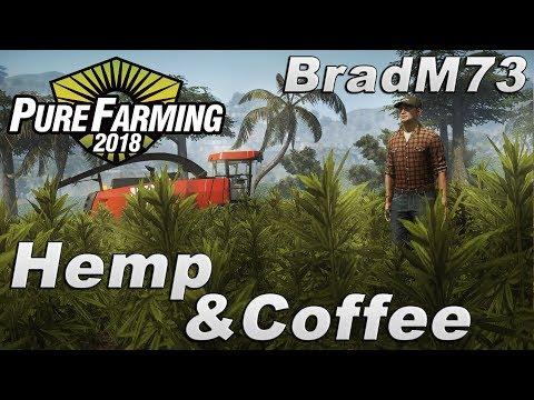 Pure Farming 2018 FIRST LOOK GAMEPLAY - Hemp & Coffee Farming!