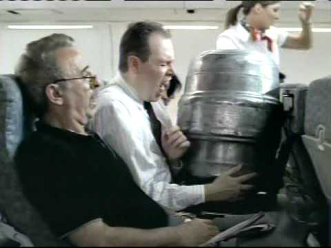 2007 - Heineken Ad - Keg on a plane!