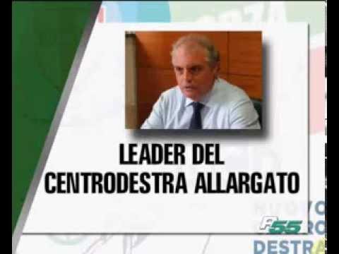 una grafica del servizio con la foto del presidente onorario di Agorà Nino Caianiello