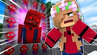 LITTLE KELLY MAKES A PORTAL TO SPIDERMAN.EXE!!! - Minecraft Little Club Adventures