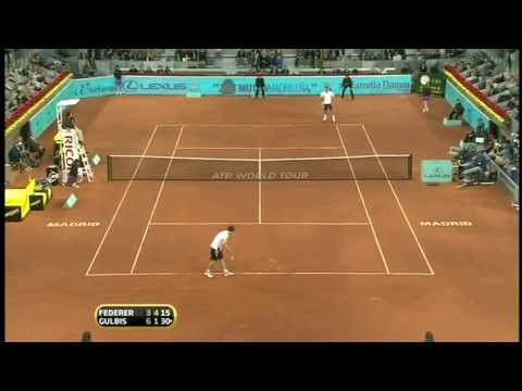 Madrid 2010 Quarterfinal - Roger Federer vs Ernest Gulbis ( Fake Head Shot ).