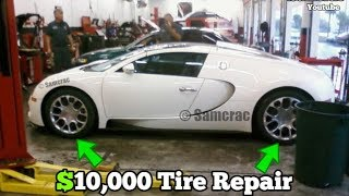 Guy Brought his BUGATTI to a JIFFY LUBE for a Tire Patch! Here's what happened...