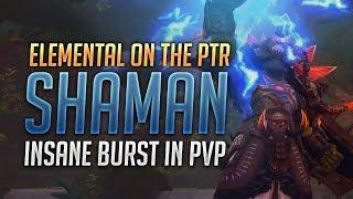 8.1 PTR Elemental Shaman INSANE BURST - World of Warcraft: Battle for Azeroth