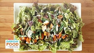 Red-Leaf Salad with Roasted Sweet Potatoes - Everyday Food with Sarah Carey