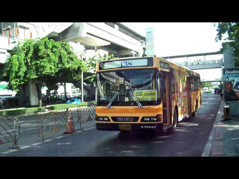 Buses in Bangkok, Thailand.