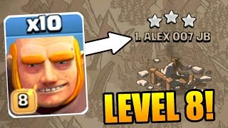 Clash Of Clans - LEVEL 8 GIANTS vs WAR!! - 3 STAR ATTACK STRATEGY JULY 2016!