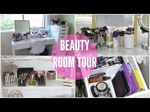 Beauty Room Tour & Makeup Collection Overview // 2017