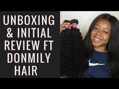 DONMILY HAIR   UNBOXING & INITIAL REVIEW   ARIE BRIANNA