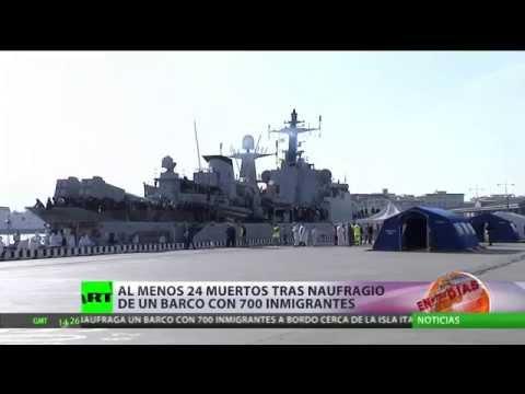 Tragedia: Se hunde en aguas libias un barco con 700 inmigrantes a bordo