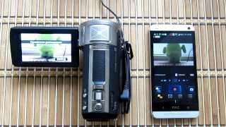 HTC One: управление и видеонаблюдение камерой Panasonic HC-V720M