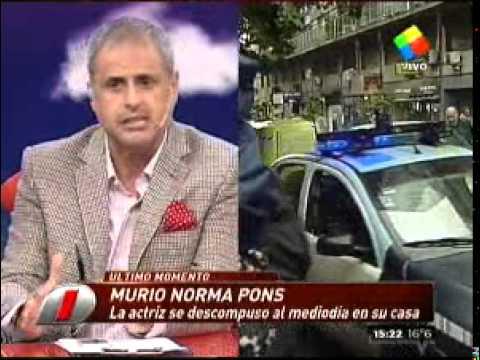 Norma Pons: el cuerpo fue retirado de su departamento
