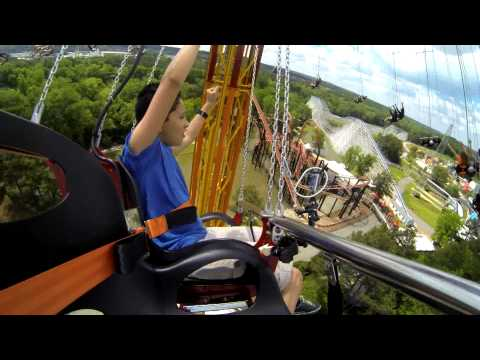 SkyScreamer at Six Flags Over Georgia - On and Off-Ride (official footage)