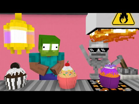 Monster School: WORK AT CUPCAKE PLACE! - Minecraft Animation