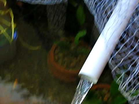 Outdoor fish pond with diy up flow filter how to save for Do it yourself fish pond