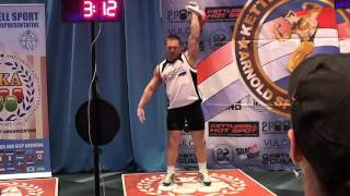 Morozov Igor Snatch 32 kg 219 reps - March 5th 2016 Arnold Classic/Морозов Игорь Рывок 32 кг 219 раз