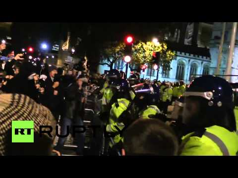 UK: See protesters BATTLE police at London Million Mask March