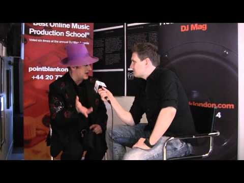 Boy George interviewed at the DJ Top 100 party