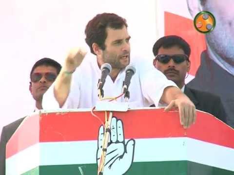 Shri Rahul Gandhi addressing an election Rally at bhilora (Gujarat)