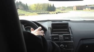 Inside a C63 AMG by Edo Competition while drifting!