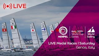 LIVE | Medal Races | Hempel World Cup Series Genoa 2019 | Saturday 20th April