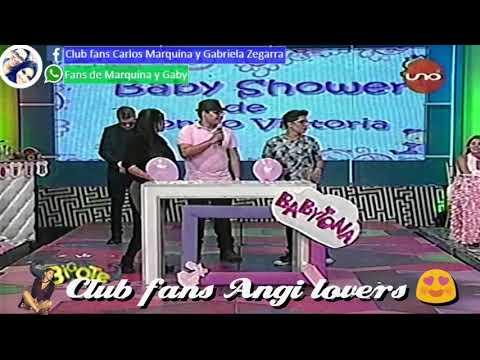 Angi Zegarra gana en un juego del baby shower