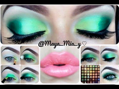 Green Eye Makeup Tutorial - YouTube