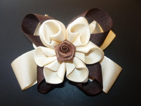 Manualidades y accesorios la hormiga. como hacer una flor en citas. hair accessories. video No.060