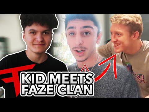 Little Brother Meets FaZe Clan! (Fortnite Pros & FaZe Rug)
