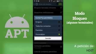 Modo Bloqueo - [AndroidParaTorpes]