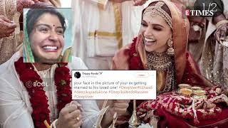 Deepika Padukone and Ranveer Singh Wedding : Memes on the pictures go VIRAL