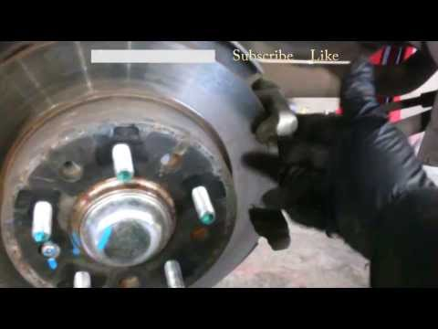 Rear brake pad replacement 2008 Hyundai Tiburon Rotors Install Remove Replace