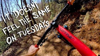 IT'S BETTER ON A WEDNESDAY | Mountain Biking Buffalo Creek Park in Lake Lure, NC
