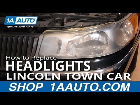 How to Install Repair Replace Headlight assembly Lincoln Town Car 98-02 1AAuto.com