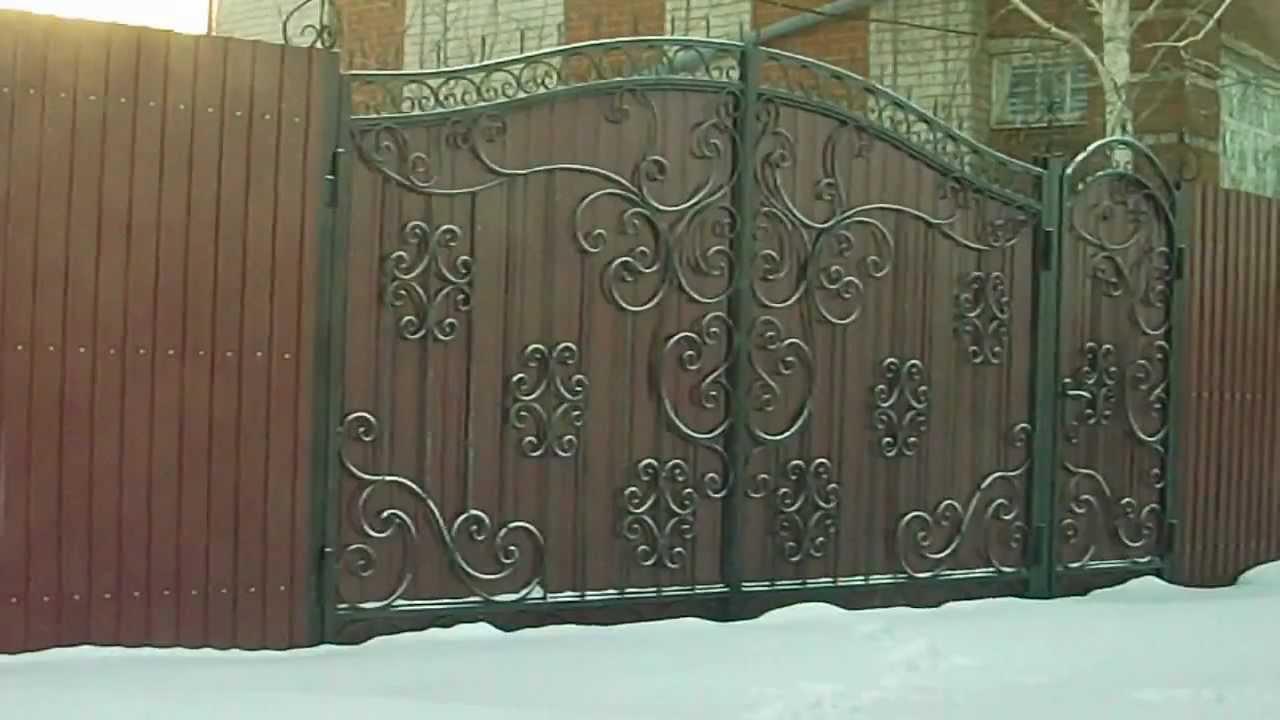 Фото как сделать кованые ворота своими руками