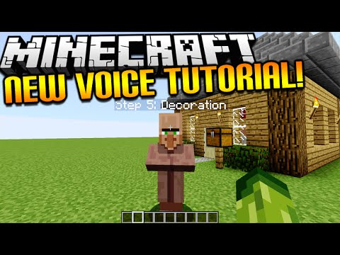 ★Minecraft NEW In Game Tutorial Mode - Custom Voice commands. Auto Block Building & MORE!★