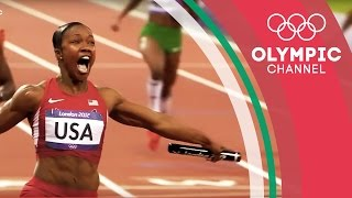 USA's 4x100m Relay Team Passes the Baton and Breaks the Record | Olympics on the Record