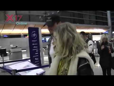 Pregnant Fergie and husband Josh Duhamel at LAX Airport