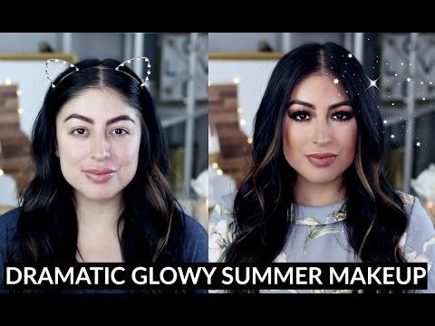Dramatic Glowy Summer Makeup Tutorial: One Brand