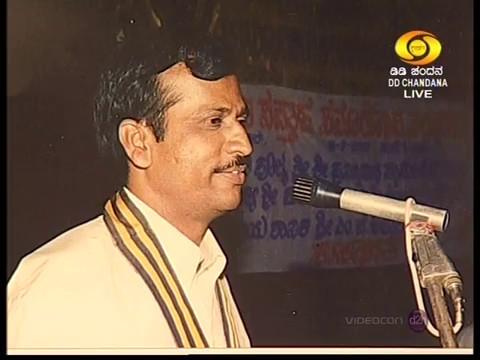 "Dr.B.H.Lakshmana Reddy in ""sadhakara samvaadha"" helded by DD Chandana ""Belagu"" with K.C.Shivram."