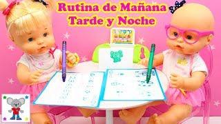Rutina de Mañana Tarde y Noche Bebés NENUCO HERMANITAS TRAVIESAS   Historias con Muñecas Bebé Nenuco