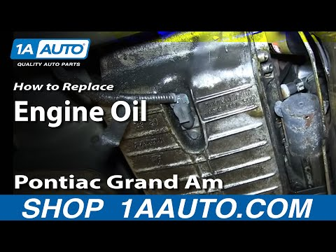 How To Do An Oil Change GM 3.4L V6 Pontiac Grand Am Olds Alero Chevy Venture