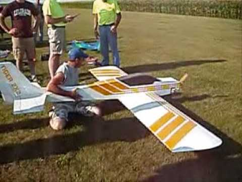 MONSTER SCALE HOME MADE TIGER 2 RC AIRPLANE