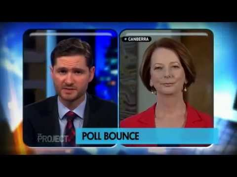 The Campaign (2012) Will Ferrell Interviews Julia Gillard on The Project