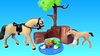 Playmobil Country Farm Animals Horse Paddock Toy Building Set Build Review