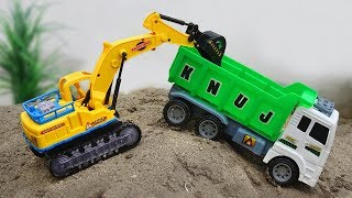 Car excavators, dump truck, bulldozer, concrete mixer - H707C Toys for kids