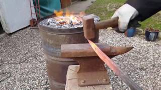 How To Make A Cheap Oil Drum Forge