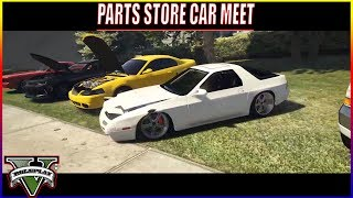 PARTS STORE CAR MEET | NEW WIDEBODY CHALLENGER DEBUT | FIVEM