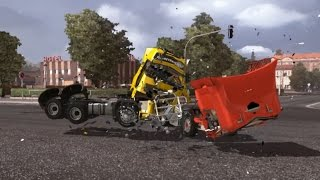 Part 2 - Competition Continues - Volvo FH VS Renault Premium - Crash Test - Drifting