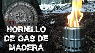 wood stove review and test / hornillo de gas de madera  revisión y prueba por Juanjo de JJ.Adventure