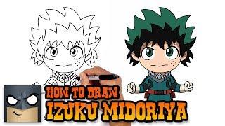 How to Draw Izuku Midoriya | My Hero Academia